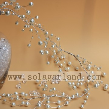 Artificial Pearl Beaded Tree Branches Spray For Centerpieces