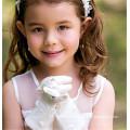 Blumenmädchen Satin Handschuhe Braut Hochzeit Satin Handschuhe Handgelenk Länge Spitze Handschuhe