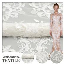 Manufatura profissional personalizado tule de casamento novo cording bordado design