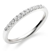 Halbes Reihen-Diamant-Ring-Band 925 Sterlingsilber-Schmucksachen