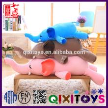 2017 nuevo producto al por mayor de alta calidad personalizada suave bebé juguetes felpa elefante