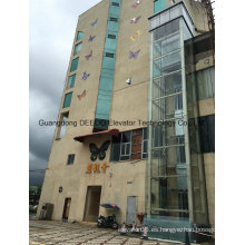 Ascensor de vidrio panorámico residencial comercial
