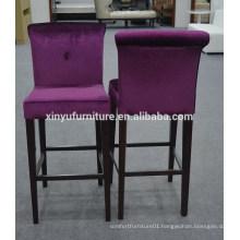 Antique fabric cover bar chair furniture XYN2474