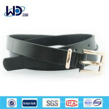 Black color Pin Buckle Genuine Cowhide Leather Belt for Men