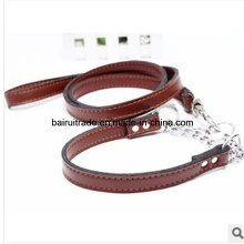 2016 High Quality Leather Rope Collar and Leash