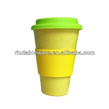 100% eco-friendly bamboo mug with lid