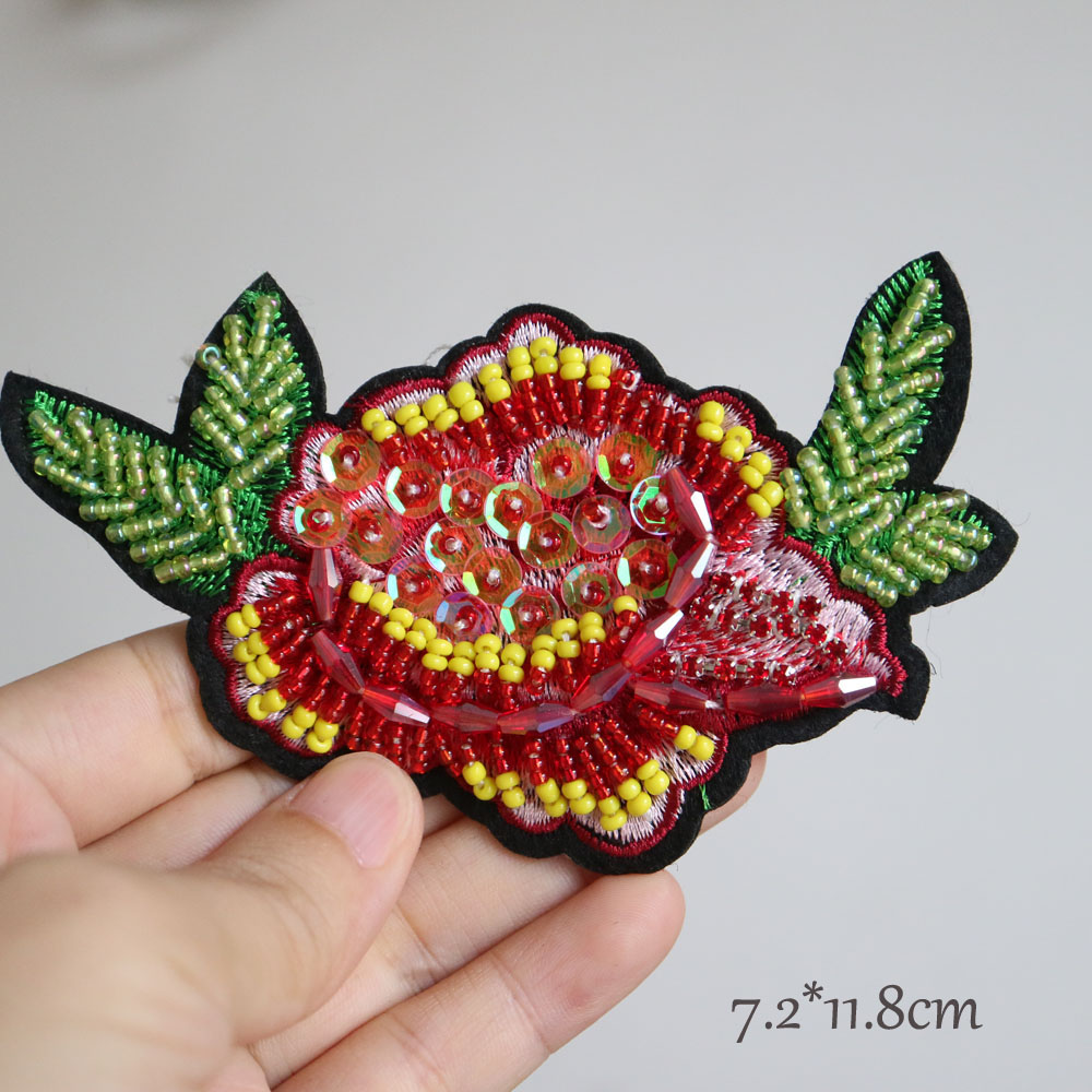 Fashion Flower Bead Patches