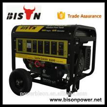 BISON calidad fiable 2kw, 3kw, generador de gasolina de arranque eléctrico 5kw