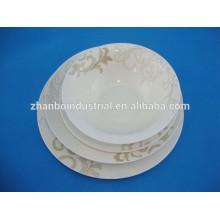 Personalizado de alta qualidade de peso leve nova placa de porcelana de osso