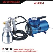 Mini Air Compressor with low pressure spray gun 472