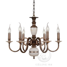 Kronleuchter mit Marmor, Golden Iron Pendant Lighting Fixture (SL2260-6)