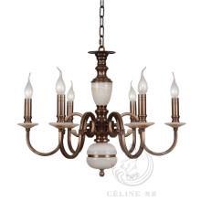 Araña con mármol, oro hierro colgante de iluminación (SL2260-6)
