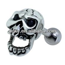Joyería pendiente del pendiente del cráneo del tornillo del disco