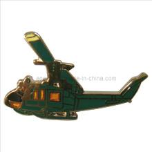 Emblema do Pin do metal do ouro do helicóptero no tempo de rotação rápido (badge-093)