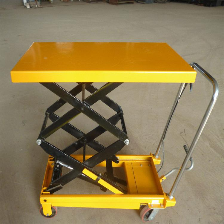 Scissor Type Manual Hydraulic Trolley Lift