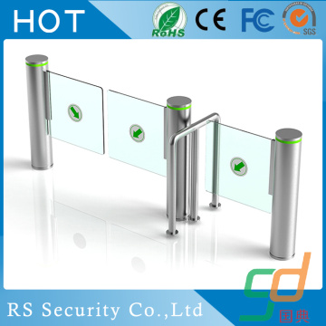 Double Head Supermarket Glass Turnstile Solutions