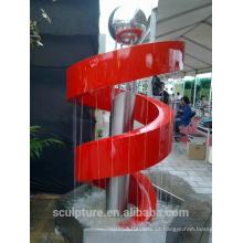Hot vendendo esculturas modernas de aço inoxidável fonte para decoração / estátua fábrica