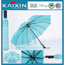 ISO 9001 Publicité Forme de bouteille de vin Parapluie pliant