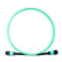Fonte de fábrica MPO-MPO 8/12/24 cores multimodo 10G OM3 cabo de conexão de fibra óptica Cabo de ligação de fibra óptica pré-terminado interior