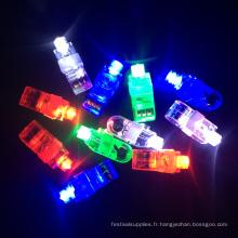 articles de fête lumineux mini led lumières du doigt
