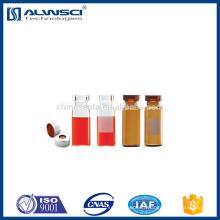 Flacon supérieur de crème de verre d'étiquette ambre de 2 ml