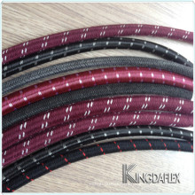"""Abrasive Resistant 3/8"""" I.D Nitrile Rubber Cotton Outer Braided Smooth Fuel Petrol Diesel Oil Line Hose"""