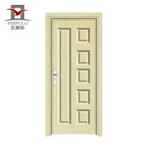 Popular no Nepal mercado de alta qualidade interior pvc composto porta de madeira com novo design