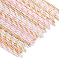 Custom Printed Paper Straws Bar Accessory Eco Disposable Paper Straw Biodegradable Paper Drinking Straw