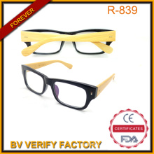 Bamboo Arm Sunglass with Black PC Frame China Supply