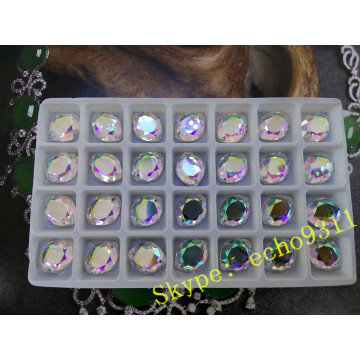 13*16mm Ab Glass Stones Flatback Stones for Garment Sewing