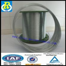 Hot difundido fio galvanizado 0,2 milímetros fio anping fábrica de grampos de arame