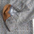 Camisa de algodão estampada de manga curta masculina de alta qualidade