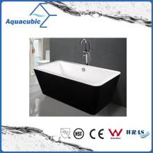 Black Surround Square Free-Standing Acrylic Bathtub (AB1514B)