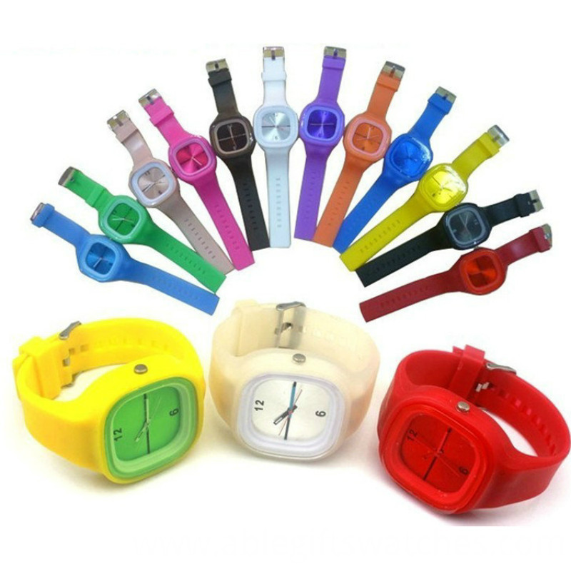 colorful silicone watch