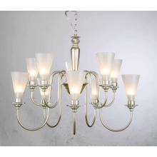 Iron Chandelier with Glass Shade Pendant Light (SD1181/5+5)