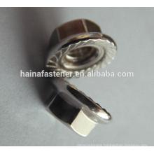 DIN6923 a4-70 Stainless Steel Lock Serrated Flange Nut
