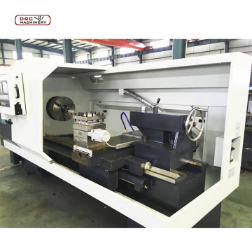 Professional factory flat bed CNC turning machine economical CNC lathe long work pieces available automatic bar feeder