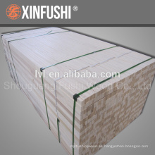 Exportación de álamo de Corea LVL para materiales de núcleo de puerta Fumigación libre