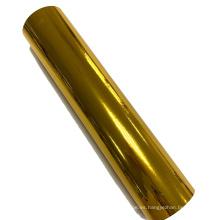 Película para mascotas metalizada en oro para laminación térmica