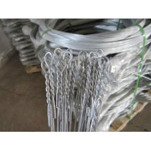 Galvanized loop bailing steel Wire