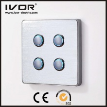 4 Gangs Lighting Switch Touch Panel Aluminum Alloy Material (RD-ST1000L4)