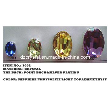 Point Back Crystal Oval Shape (3002)