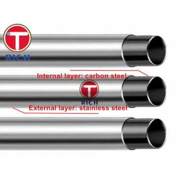 GB/T18704 Q195 Q235 12Cr18Ni9 Stainless Steel Clad Pipes