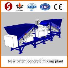 Пластинчатый тип 20-25м3 / ч передвижной бетоносмесительный завод, бетоносмесительный завод. Бетонный завод