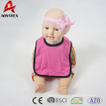 100% polyester modelling solid baby drool bibs