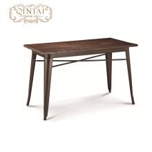 Restaurante al por mayor muebles de madera rectángulo mesa de comedor diseño de moda