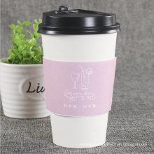 Custom Logo Printed Single Wall Coffee Sleeves, Cup Paper Sleeve, Custom Coffee Sleeve