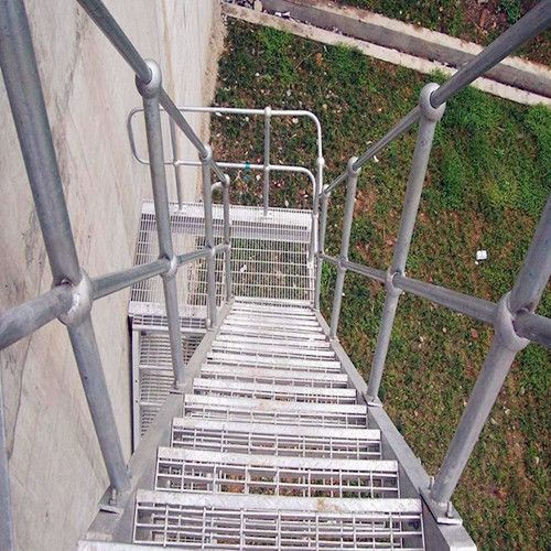Steel Bar Grid Fire Escape Stairs