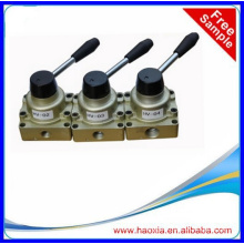 """4 way pneumatic hand operated control valve 1/4"""""""