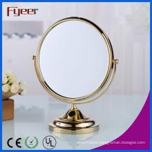 Fyeer Modern Round Golden Makeup Mirror (M5048G)